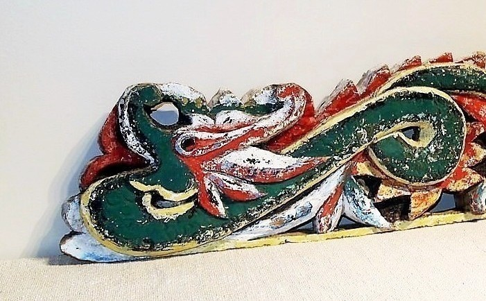 Old Carved Dragon Panel