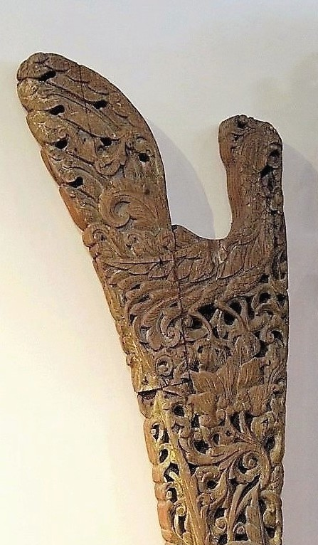 Old Carved Figurehead Panel from Madura