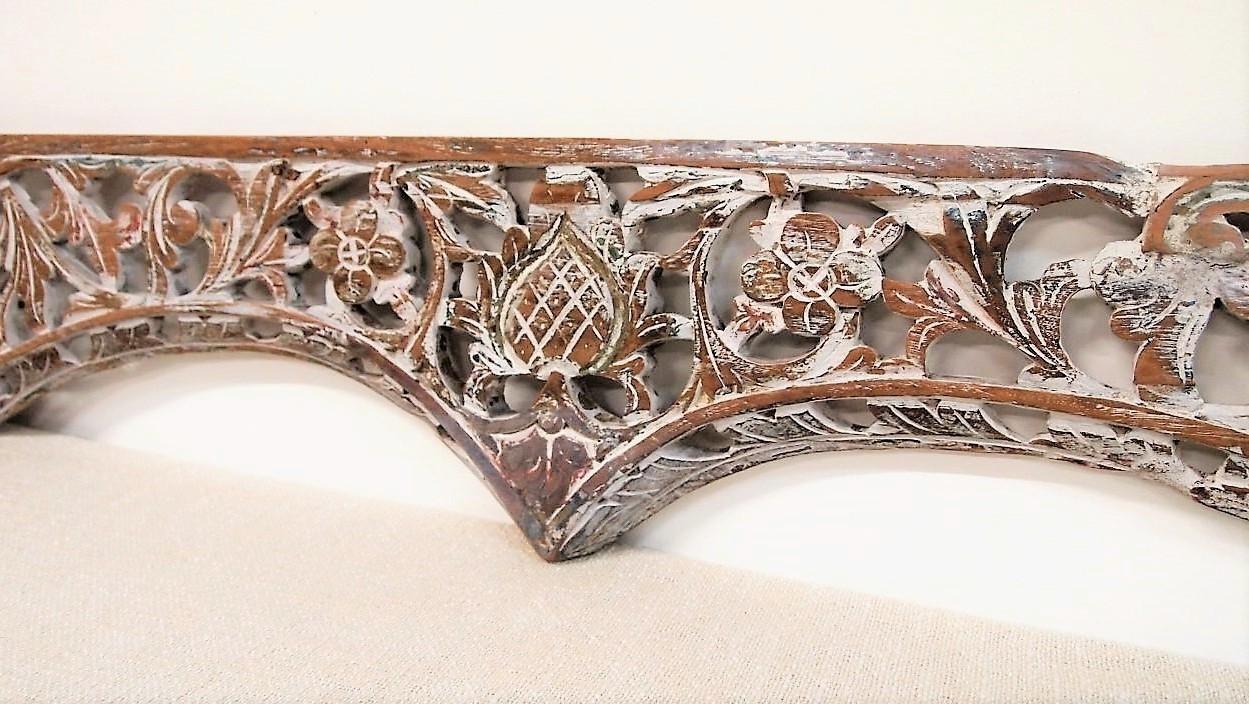 Old Carved Teak Architectural Panel 170