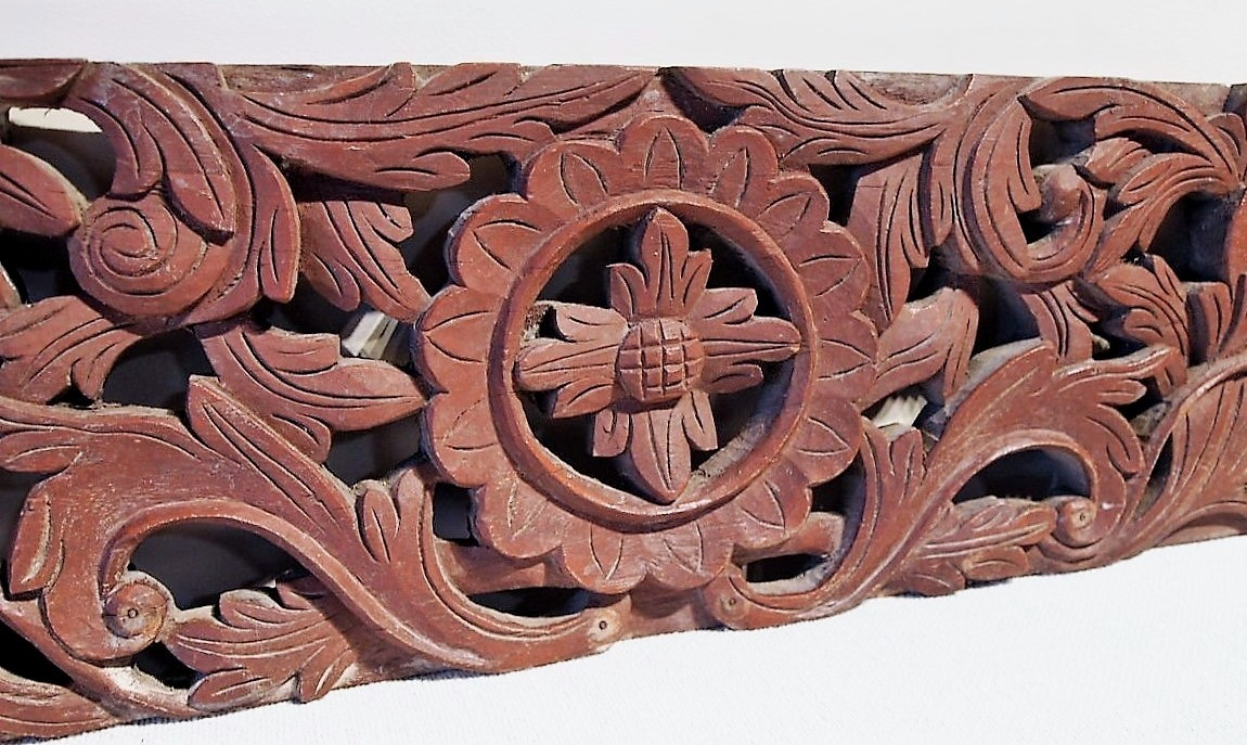 Old Carved Teak Panel 122