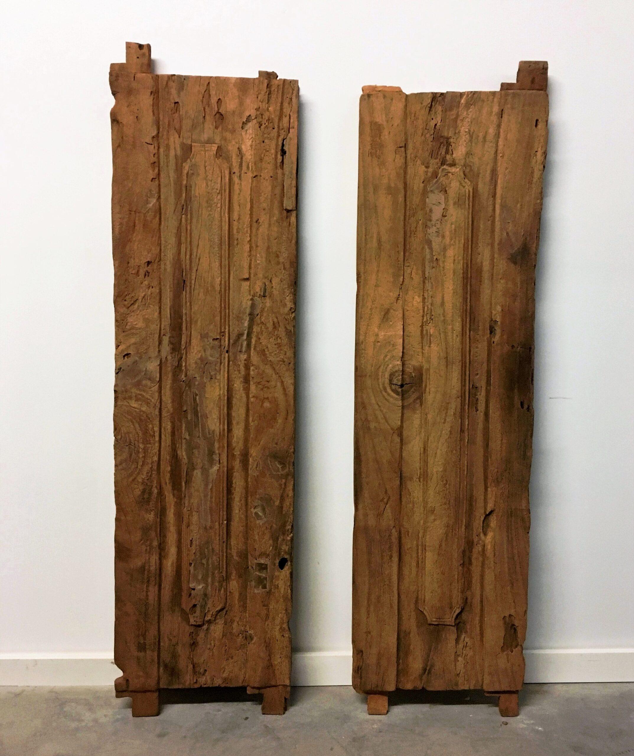 Old Solid Slab Door Panels