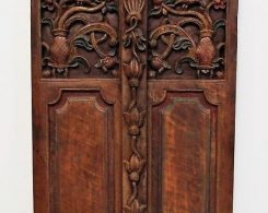 Old Carved Teak Door Panel