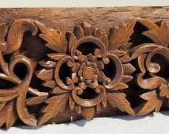 Intricately Carved Old Teak Panel 195