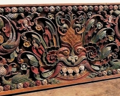 Large Old Carved Architectural Panel 198