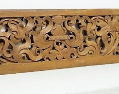 Old Carved Teak Architectural Panel 119