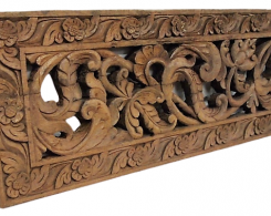Old Carved Teak Architectural Panel 167