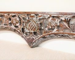 Old Carved Teak Architectural Panel 170