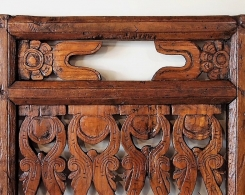 Old Carved Teak Architectural Panel 173