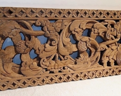 Old Carved Teak Architectural Panel 177