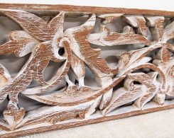 Old Carved Teak Architectural Panel 185