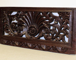Old Carved Teak Architectural Panel 201