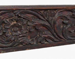 Old Carved Teak Architectural Panel 208