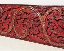 Old Carved Teak Painted Panel 194