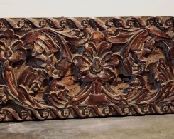 Old Carved Teak Panel 115