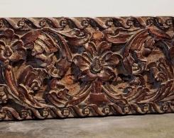 Old Carved Teak Panel 115