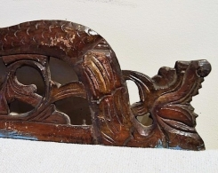 Old Carved Teak Panel with Dragons 126
