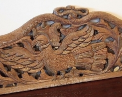 Old Carved Teak Panel with Phoenix and Dragons 123