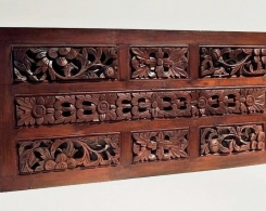 Old Carved Teak Panels in Frame G