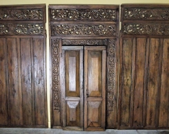 Old Indonesian Door with Wall Panels