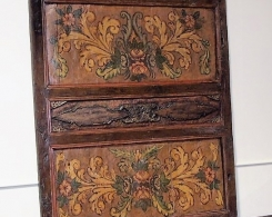 Old Painted Teak Panel 2