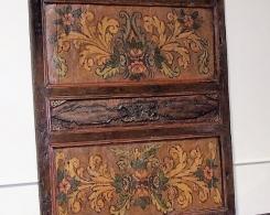 Old Painted Teak Panel 2