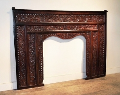 Reclaimed Teak Carved Indonesian Panel Headboard