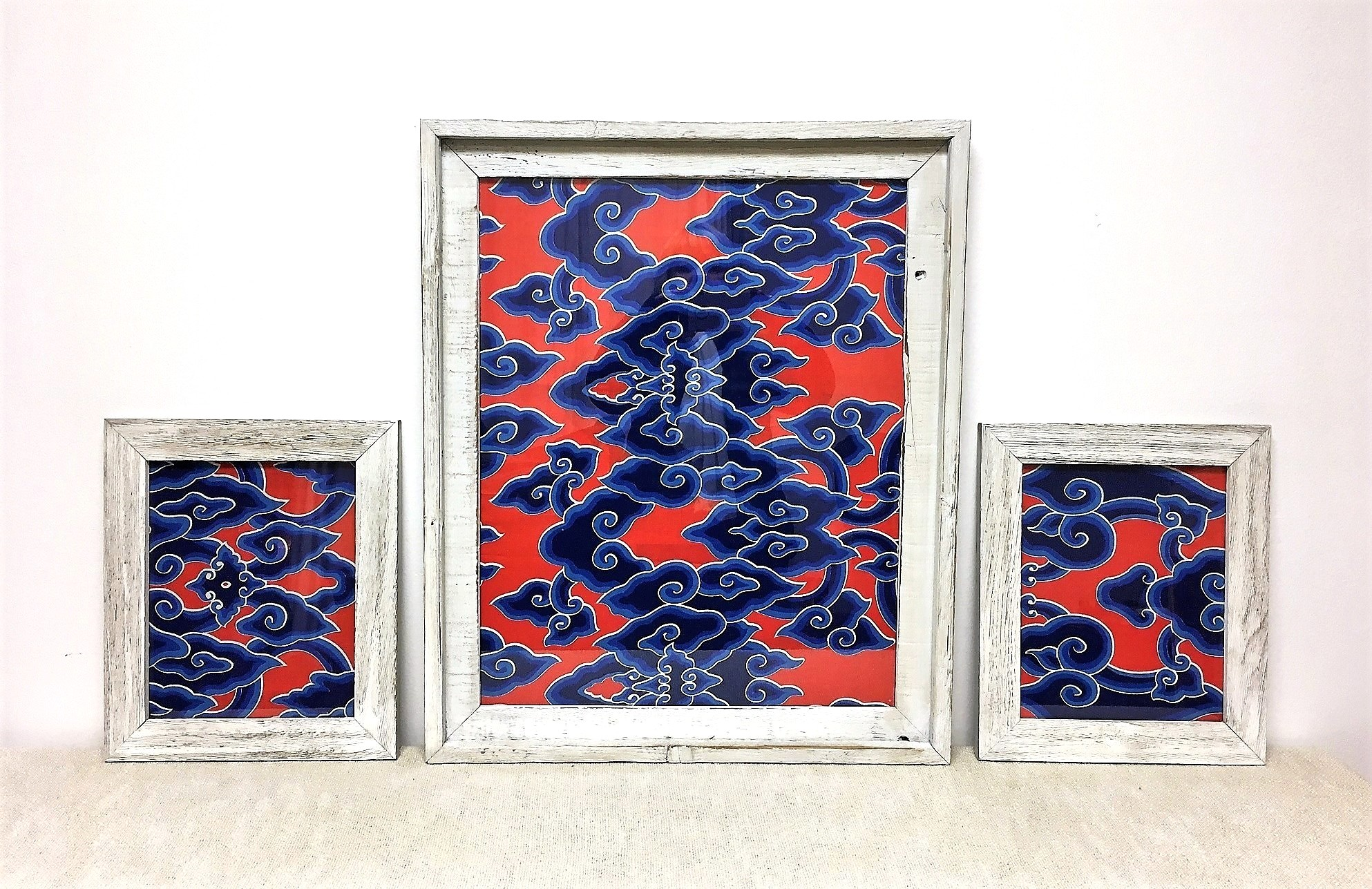 Indonesian Batik Framed Wall Art