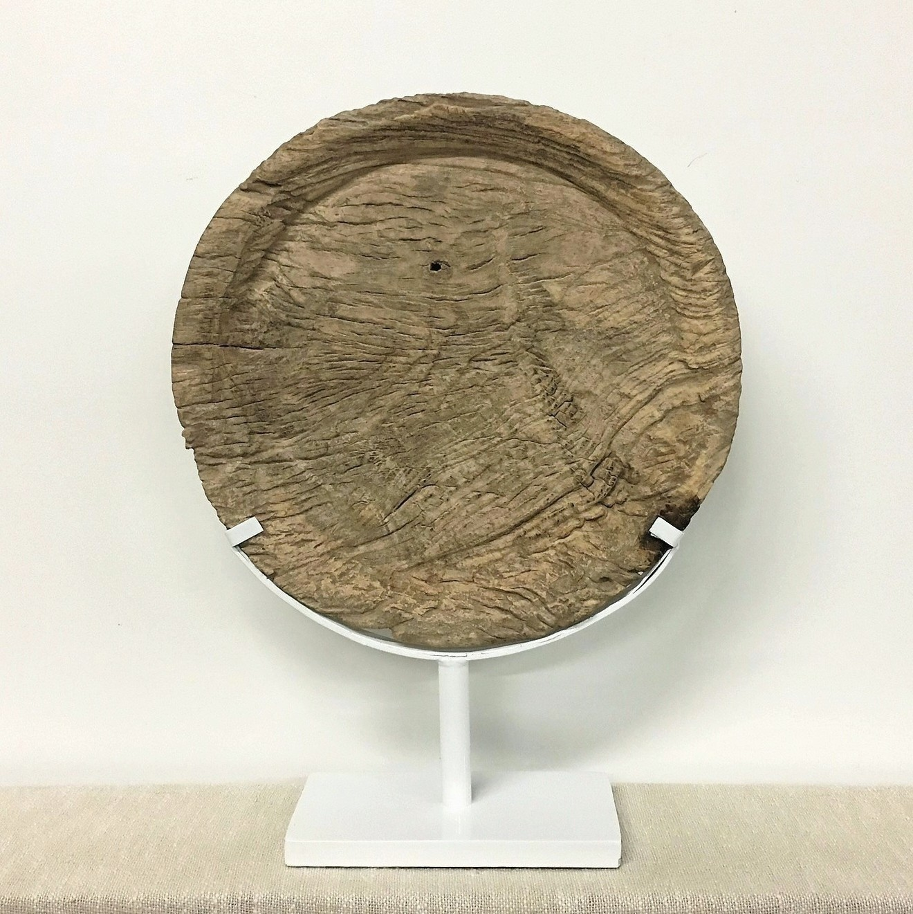 Old Eroded Teak Plate Organic Art