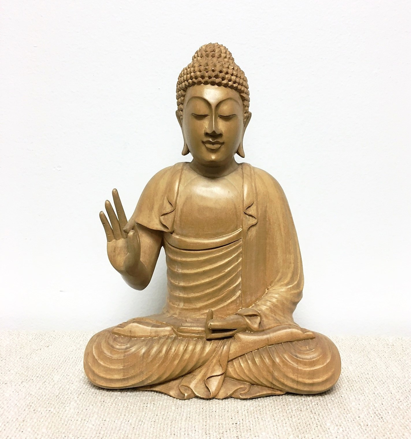 Small Hand Carved Bali Buddha Statue