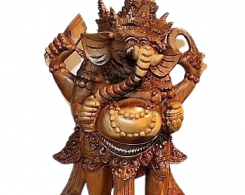 Hand Carved Hindu Ganesh Statue from Bali