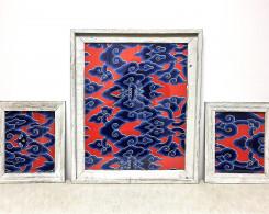 Indonesian Batik Framed Wall Art
