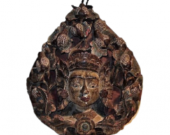 Old Carved Three Dimensional Dewi Sri Panel from Bali