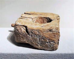 Old Teak Mortar with Handle