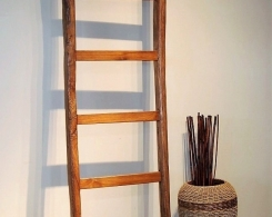 Reclaimed Teak Decorative Ladder from Old Plows 1