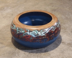 Custom Painted Wood Bowl
