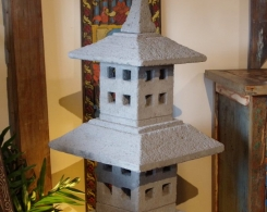 Hand Carved Bali Stone Lantern