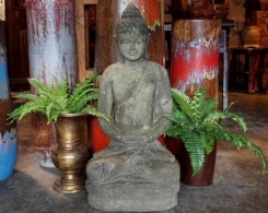 Large Stone Sitting Buddha