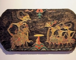 Old Carved Wayang Panel from Java
