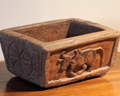Old Teak Carved Bowl