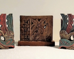 Small Old Teak Decorative Panels Group 5