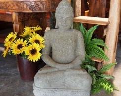 Stone Sitting Buddha Statue 2