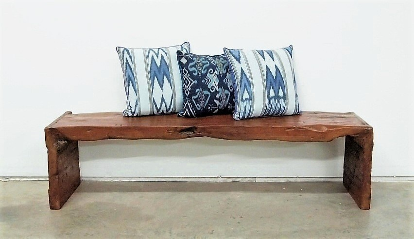 Rustic Slab Bench