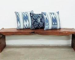 Rustic Slab Bench