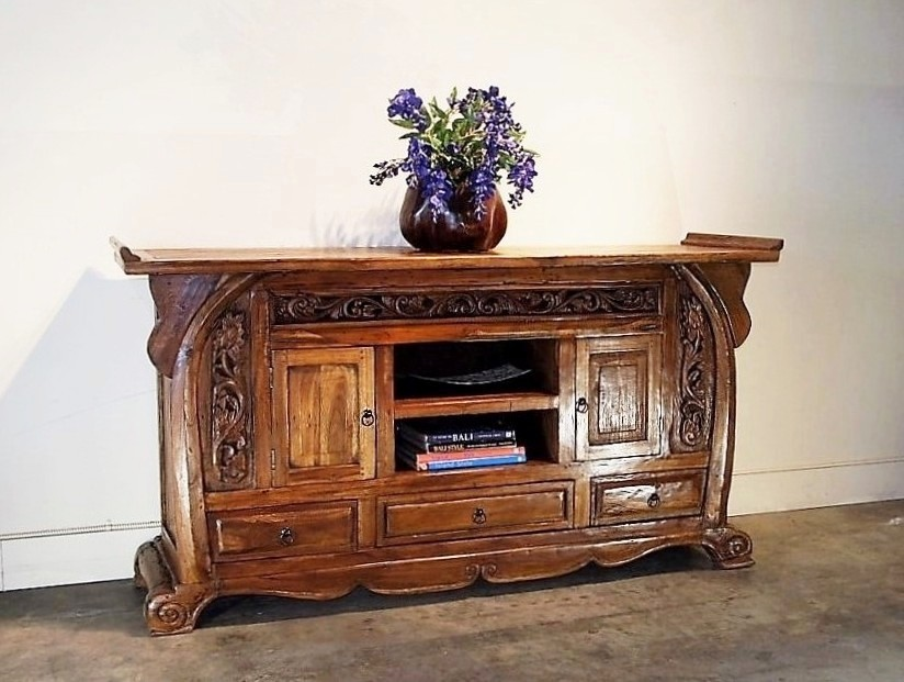 Large Reclaimed Teak Balinese Buffet