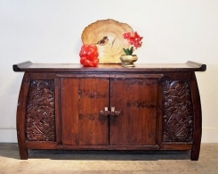 Hand Carved Indonesian Sideboard