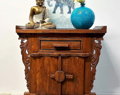 Hand Carved Bali Console Cabinet