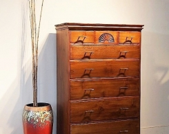 Tall Reclaimed Teak Chest with Drawers
