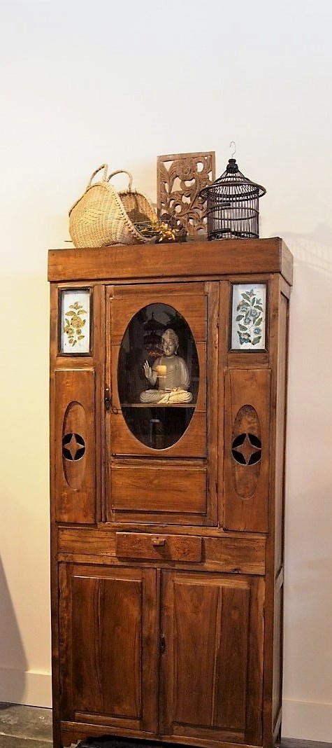 Old Colonial Teak Cabinet from Java