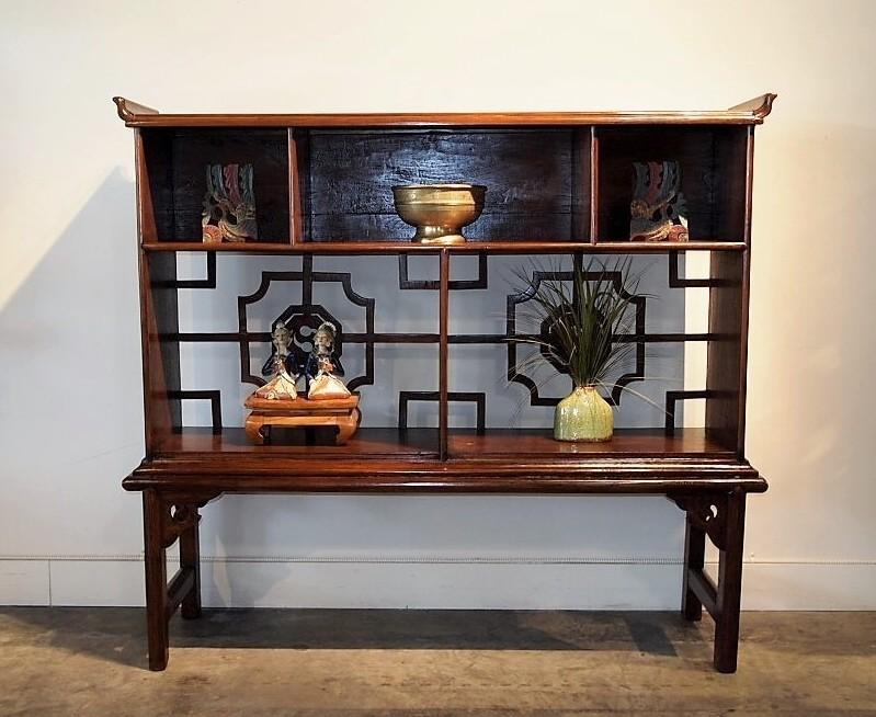 Reclaimed Teak Asian Display Cabinet