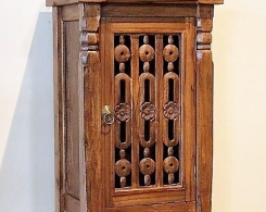 Bali Carved Door Teak Side Cabinet